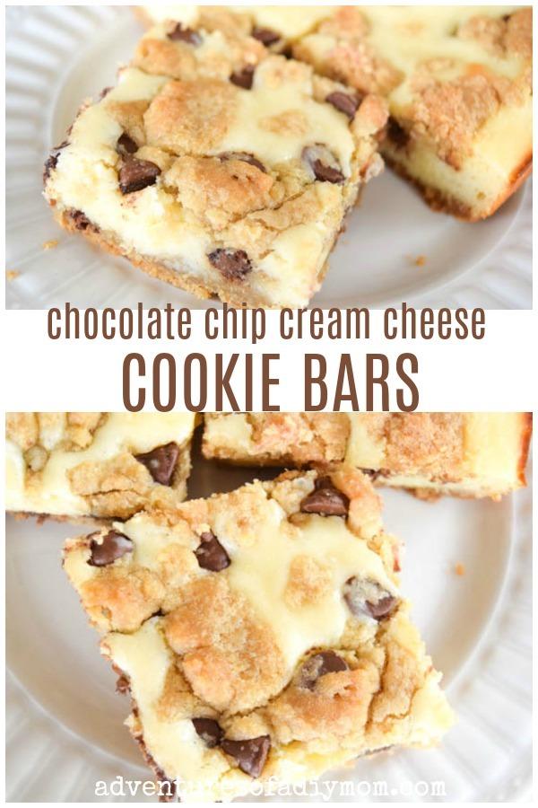 chocolate chip cream cheese cookie bars1