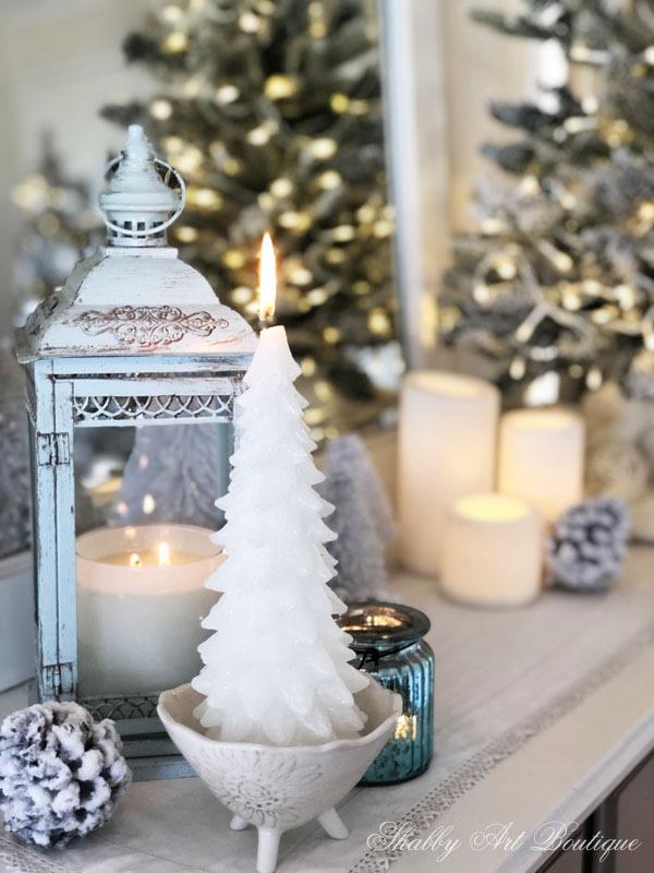 2019 Christmas in the living room - dresser - Shabby Art Boutique