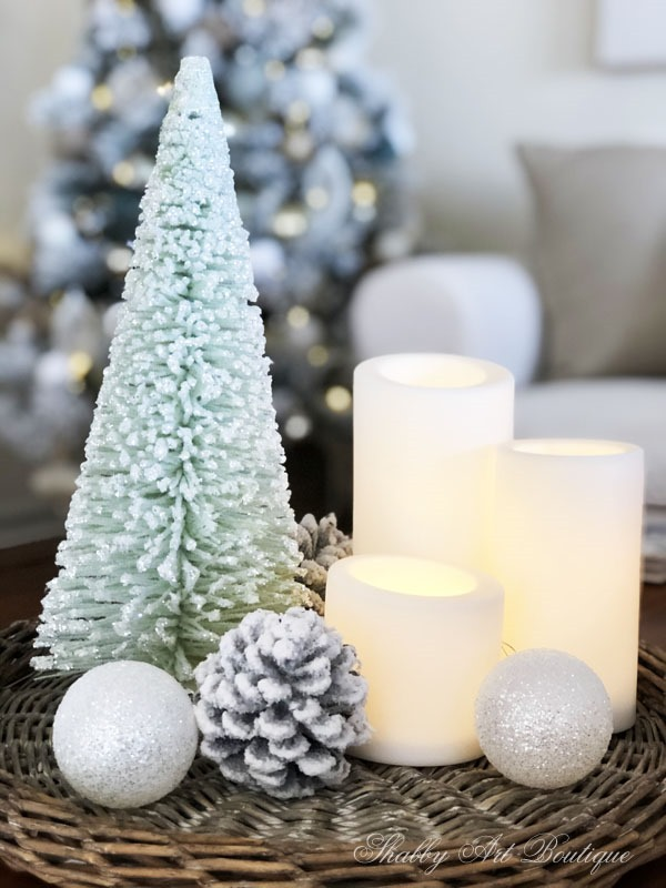2019 Christmas in the living room - frosted trees - Shabby Art Boutique