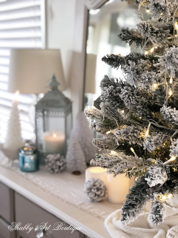 2019 Christmas in the living room - trees - Shabby Art Boutique