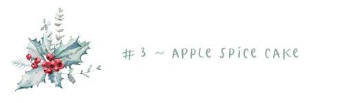 3 - apple spice cake