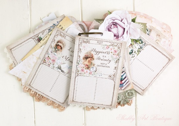 A Moment in Time Tag Flip 6 - December in the Handmade Club by Shabby Art Boutique