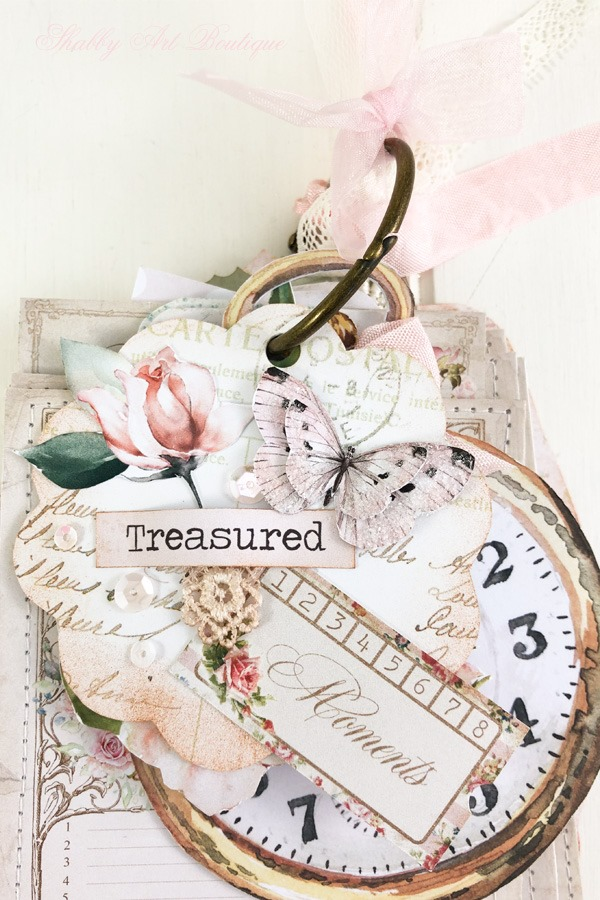A Moment in Time Tag Flip - December in the Handmade Club by Shabby Art Boutique