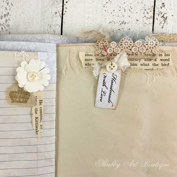 A French Vintage farmhouse journal by Shabby Art Boutique - close up 2