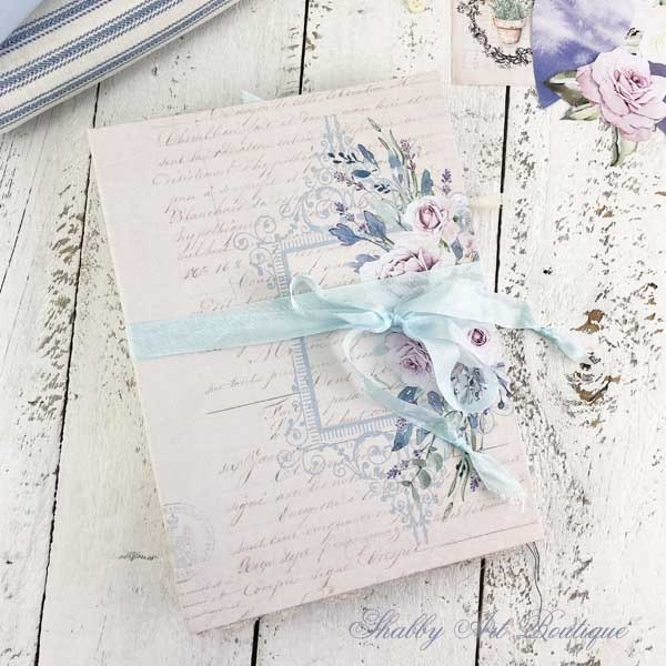 A French Vintage farmhouse journal by Shabby Art Boutique - close up
