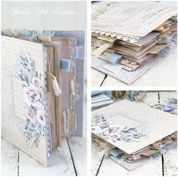 A French Vintage farmhouse journal by Shabby Art Boutique - cover