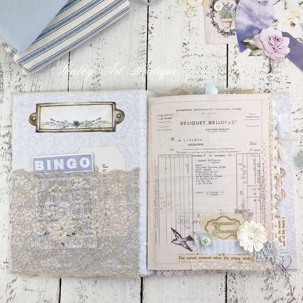 A French Vintage farmhouse journal by Shabby Art Boutique - inside front cover