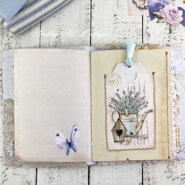A French Vintage farmhouse journal by Shabby Art Boutique - inside pages