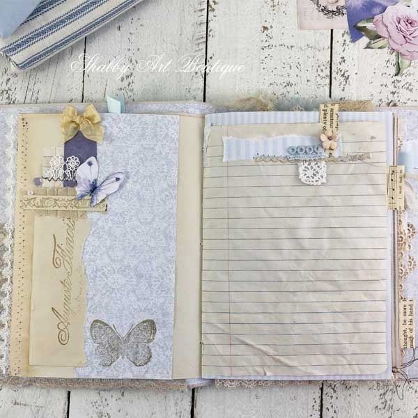 A French Vintage farmhouse journal by Shabby Art Boutique - signature 1