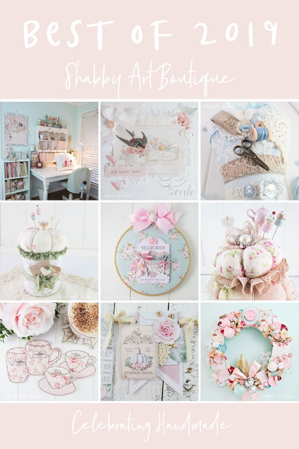 Best of 2019 at Shabby Art Boutique - Handmade projects and printables designed with passion for crafters