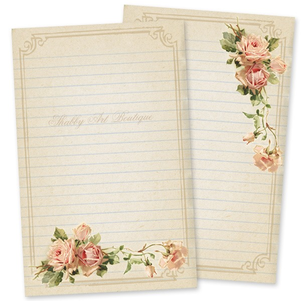 Free journal card from the Year of Vintage Postcards printables from Shabby Art Boutique