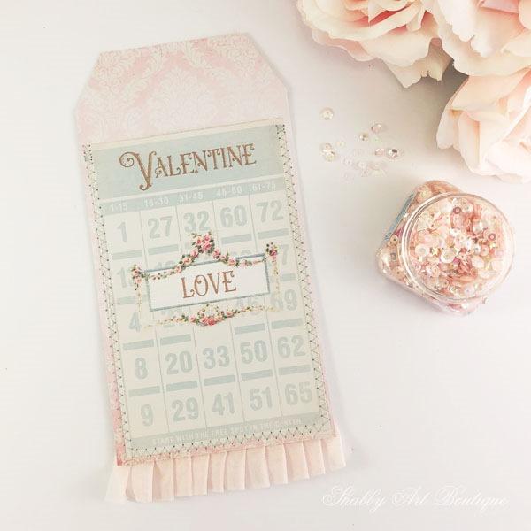 Free printable vintage Valentine pocket tag by Shabby Art Boutique - step 1