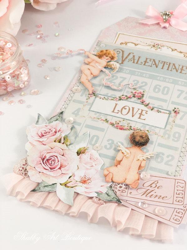 Free printable vintage Valentine pocket tag by Shabby Art Boutique