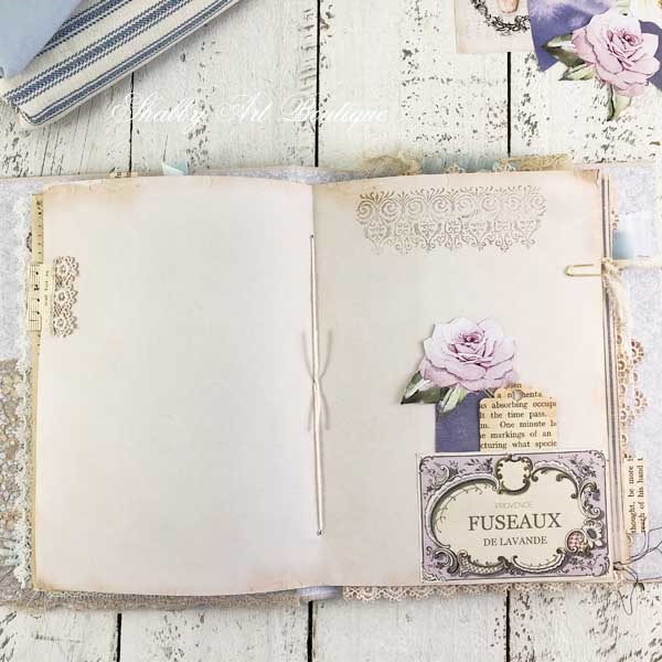 French Vintage farmhouse journal by Shabby Art Boutique - inside page