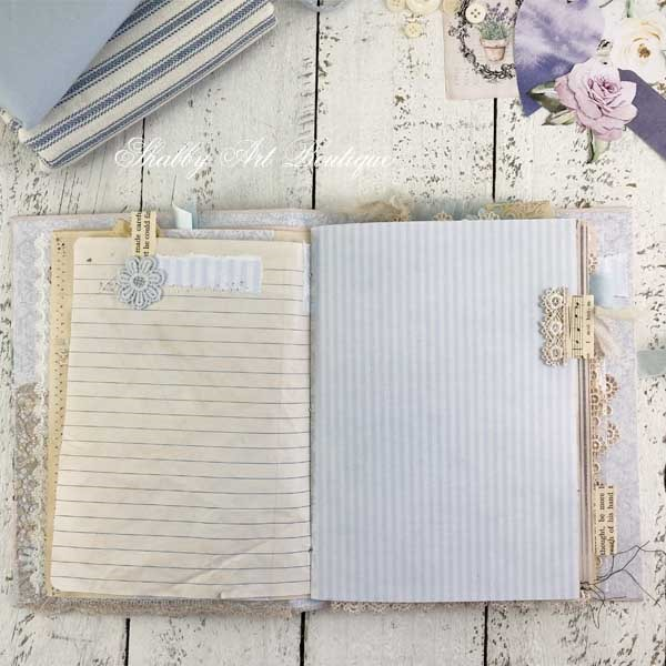 French Vintage farmhouse journal by Shabby Art Boutique - inside pages