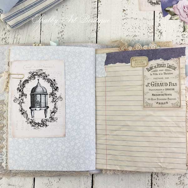 French Vintage farmhouse journal by Shabby Art Boutique - signature 2