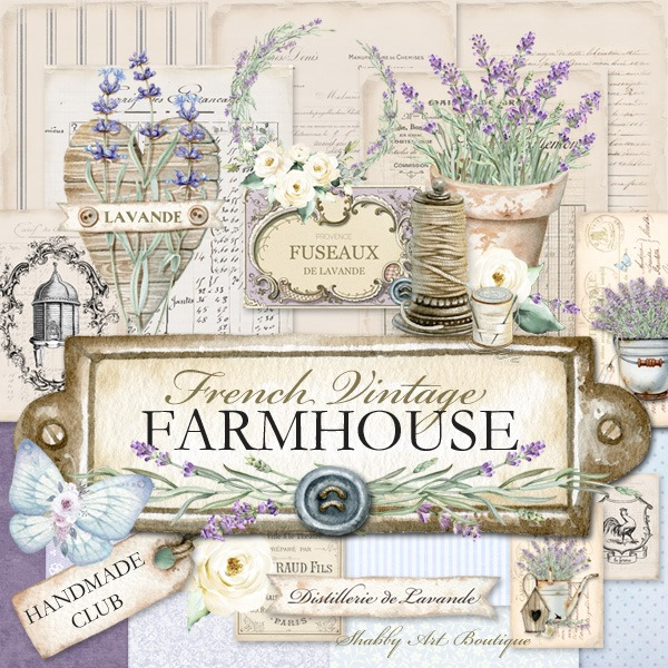 The French Vintage Farmhouse kit for the Handmade Club at Shabby Art Boutique - January 2020