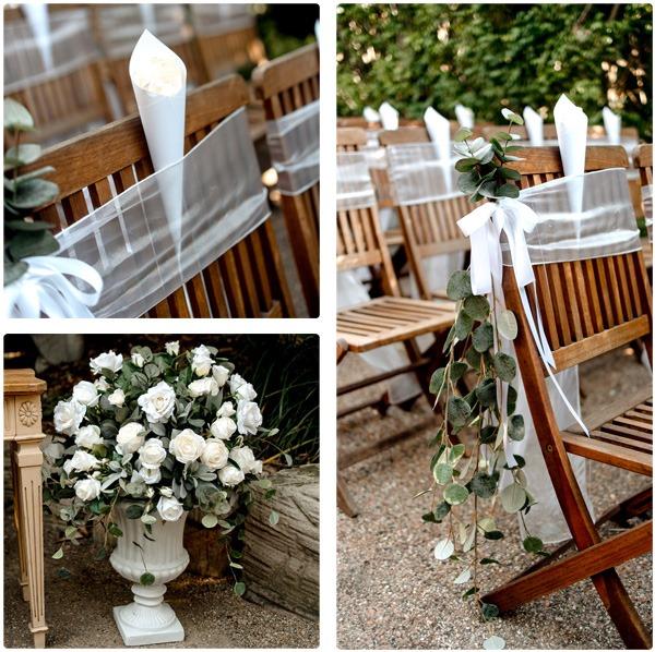 The ceremony flowers