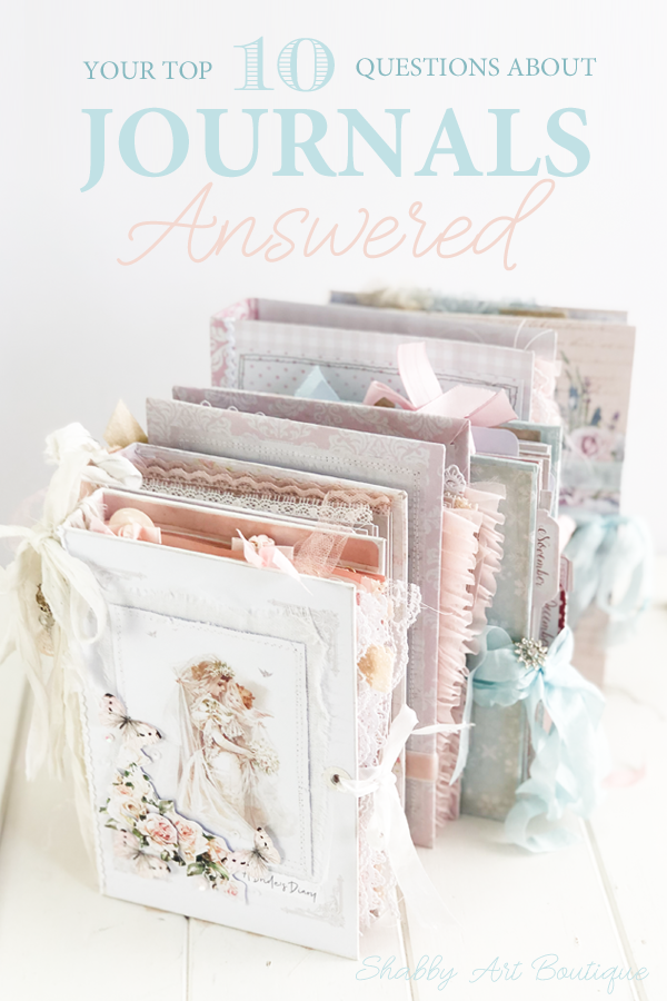Your Top 10 questions about journals answered for you by Shabby Art Boutique