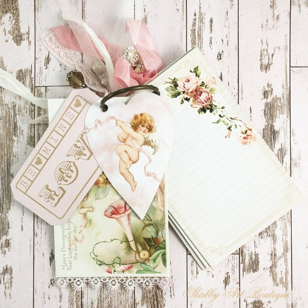 A year of vintage postcard printables from Shabby Art Boutique - February extras
