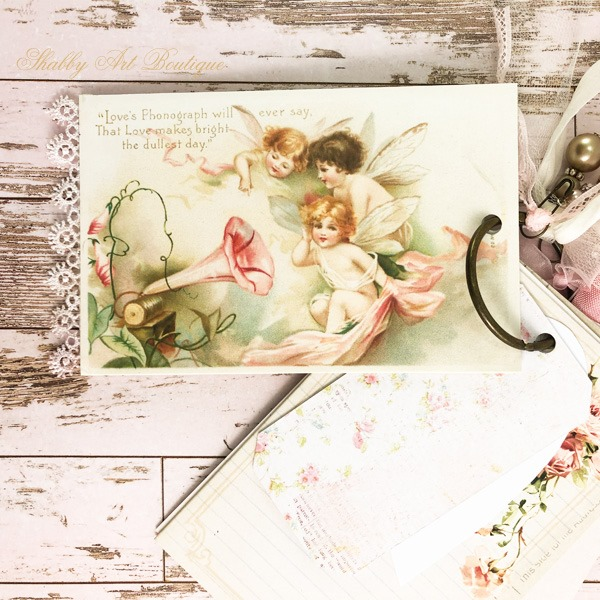 A year of vintage postcard printables from Shabby Art Boutique - February postcard 1