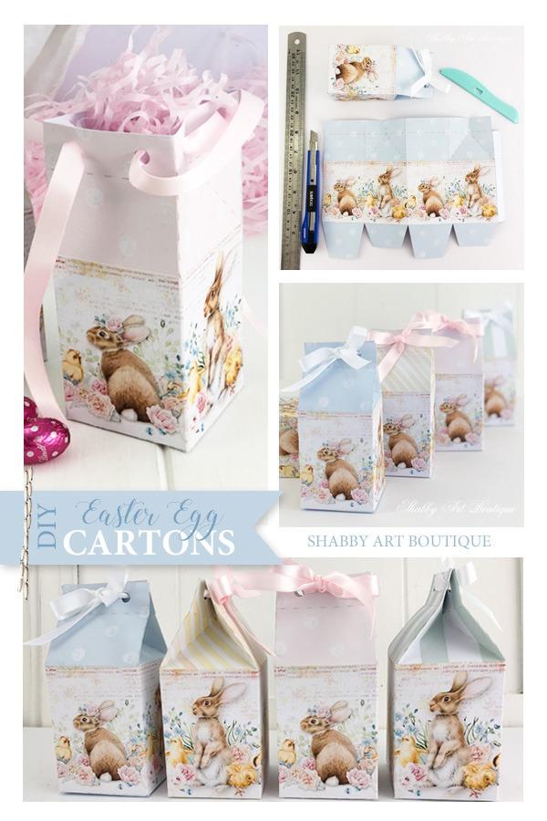 DIY mini Easter egg carton printables by Shabby Art Boutique