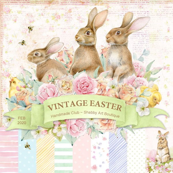 February Handmade Club Kit - Vintage Easter - Available from Shabby Art Boutique