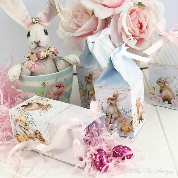 Mini Easter egg carton DIY from the February Handmade Club - Shabby Art Boutique