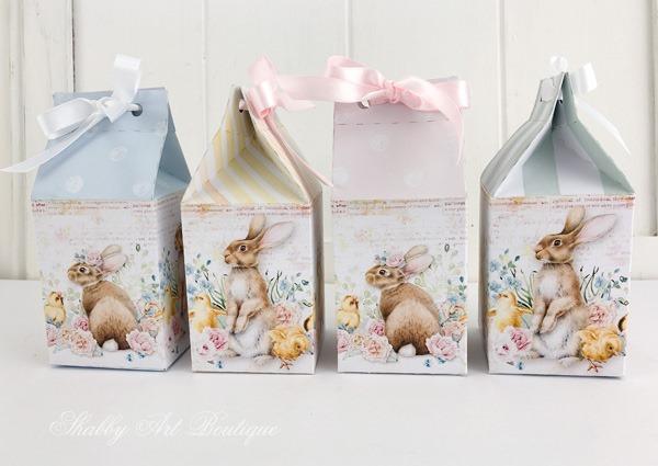 Mini Easter egg carton DIY from the February Handmade Club kit - Shabby Art Boutique