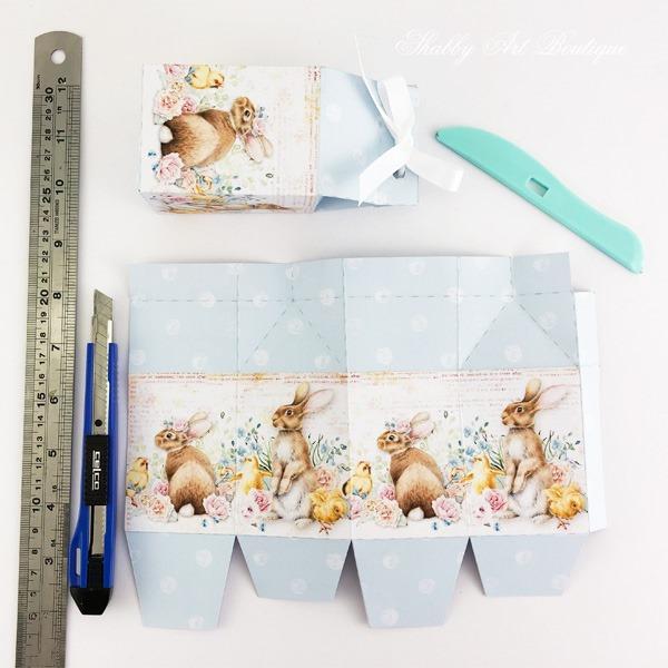 Mini Easter egg carton DIY printable from the February Handmade Ckub kit - Shabby Art Boutique