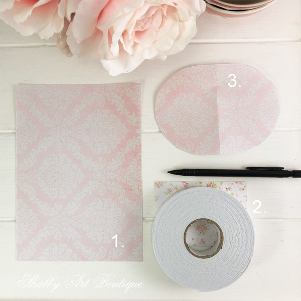 Valentine Paper Hearts Tutorial - step 1 - from Shabby Art Boutique