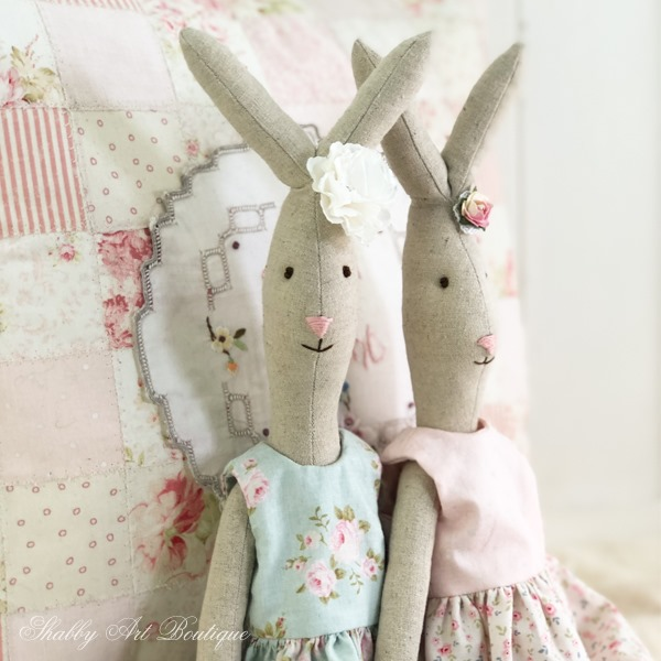 Blossom Bunny free pattern by Shabby Art Boutique