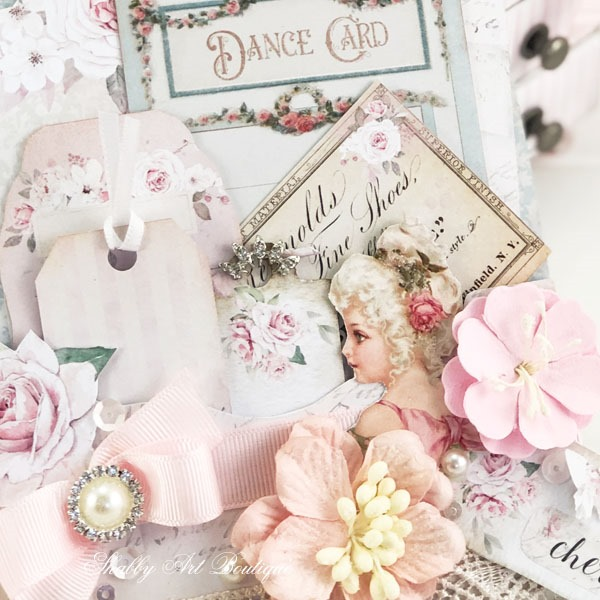 Close up of Victorian Ladies Loaded Pocket printable project from Shabby Art Boutique
