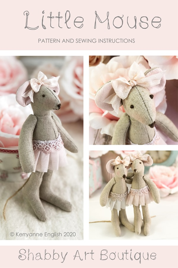 Download the full step by step instructions and pattern for this free Little Mouse project from Shabby Art Boutique