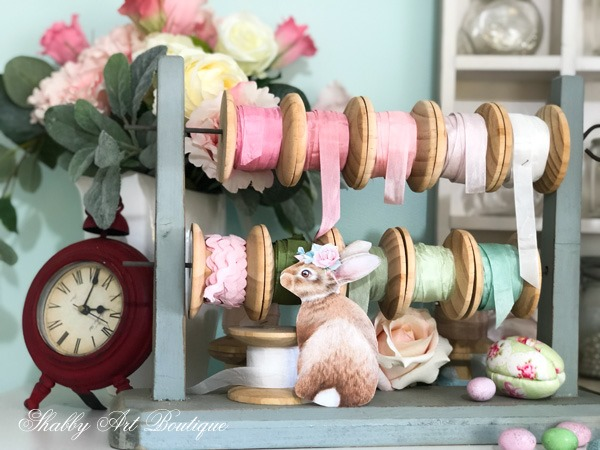 Enjoying lots of bunnies for Easter in the Shabby Art Boutique craft room