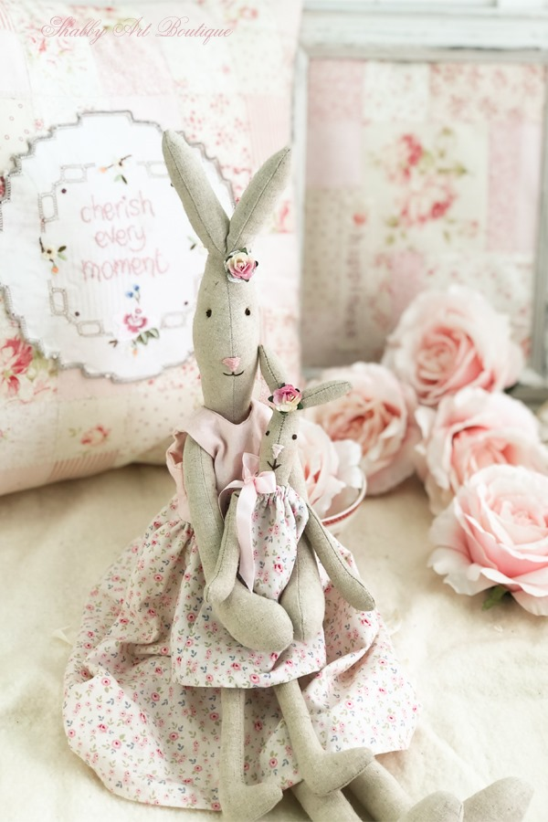 Free pattern for 3 sizes of Blossom Bunny by Shabby Art Boutique