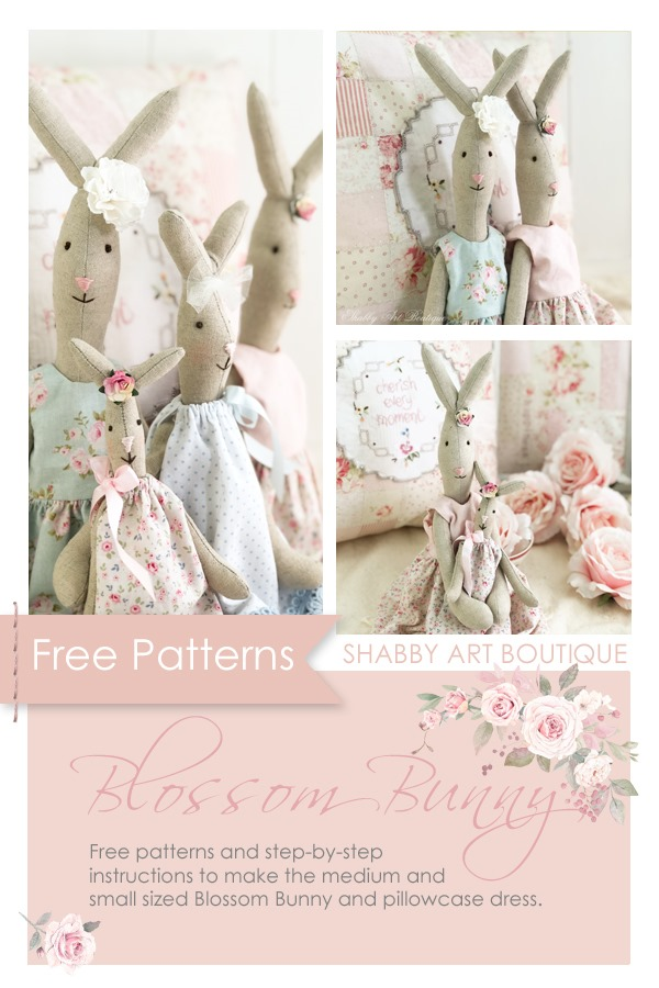 Free patterns to download for Blossom Bunny from Shabby Art Boutique