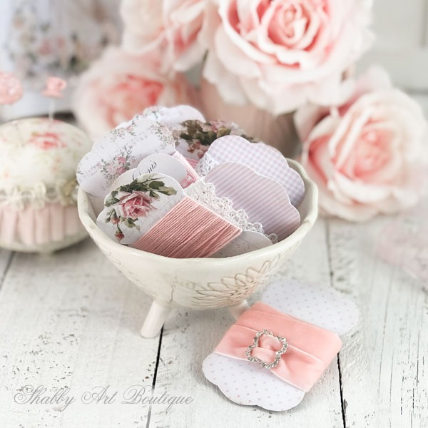 Free printable lace and ribbon boards from Shabby Art Boutique