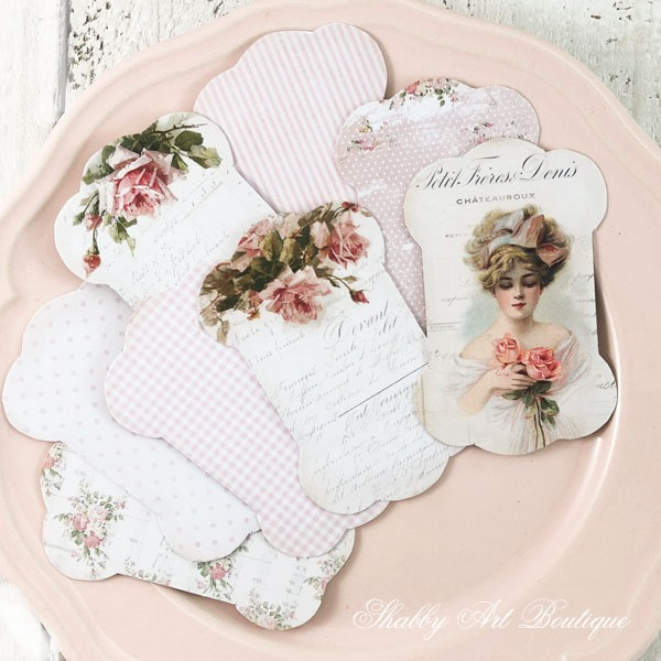 How to download and print these free lace and ribbon holders from Shabby Art Boutique