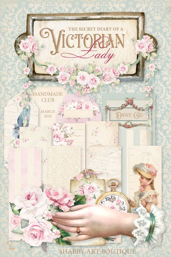 March kit for the Handmade Club - The Secret Diary Of A Victorian Lady - Shabby Art Boutique