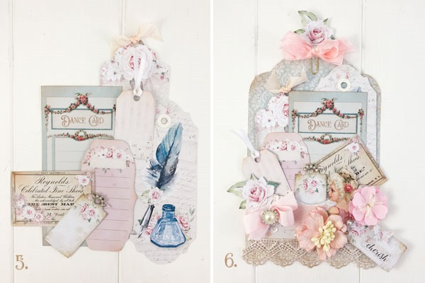 Tutorial -How to make a Victorian loaded pocket with printables from Shabby Art Boutique