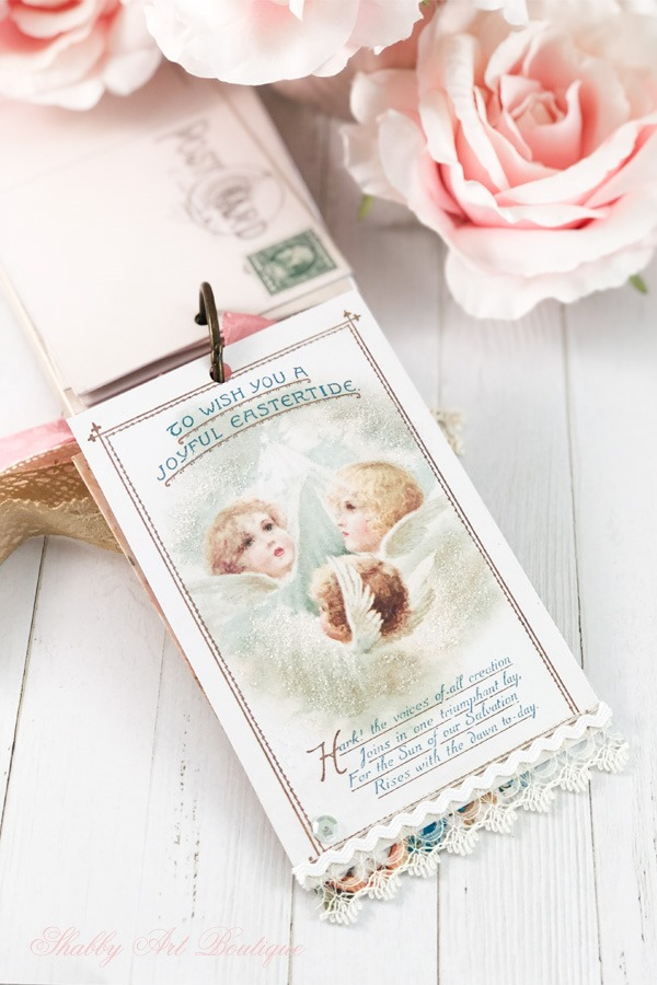 A Year of Vintage Postcards Project - April Easter 1 - free postcard printables at Shabby Art Boutique