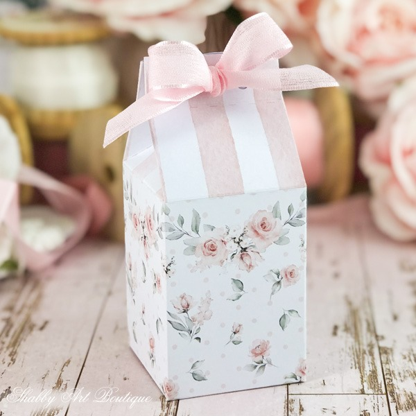 Download this free printable for a shabby Mothers Day gift box by Shabby Art Boutique