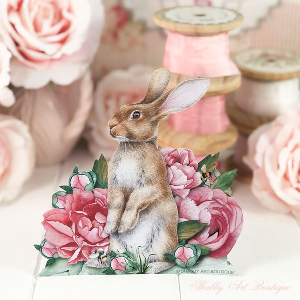 Free bunny printable from Shabby Art Boutique