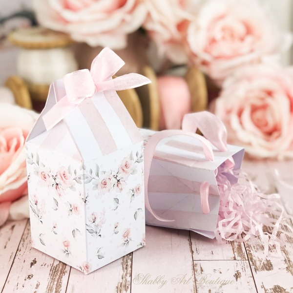 Free to download - mini milk carton shabby gift box from Shabby Art Boutique