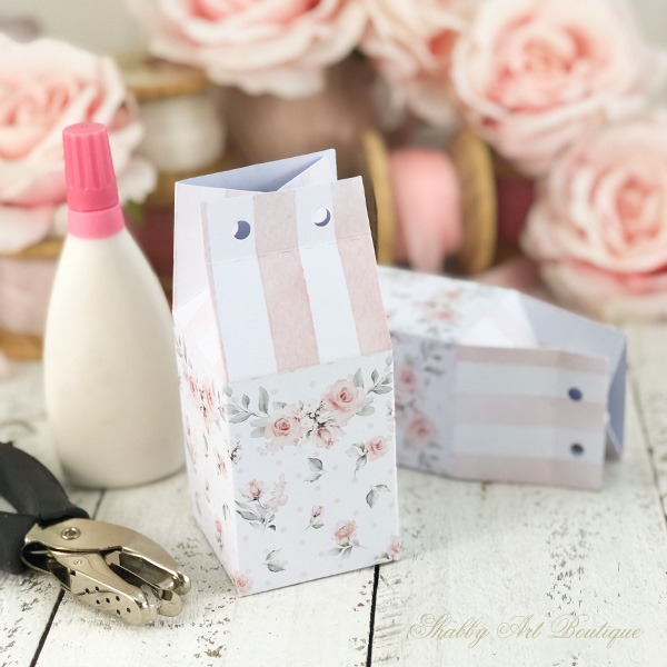 How to make a Mother's Day gift box with free printable from Shabby Art Boutique