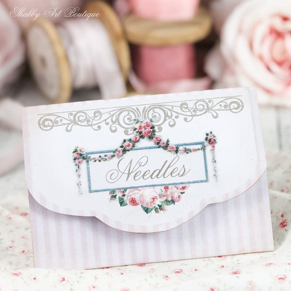 Paper Needle Wallet printable project from the April kit of the Handmade Club at Shabby Art Boutique