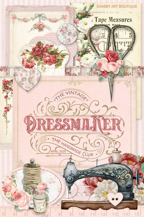 The April kit for the Handmade Club - The Vintage Dressmaker - Shabby Art Boutique