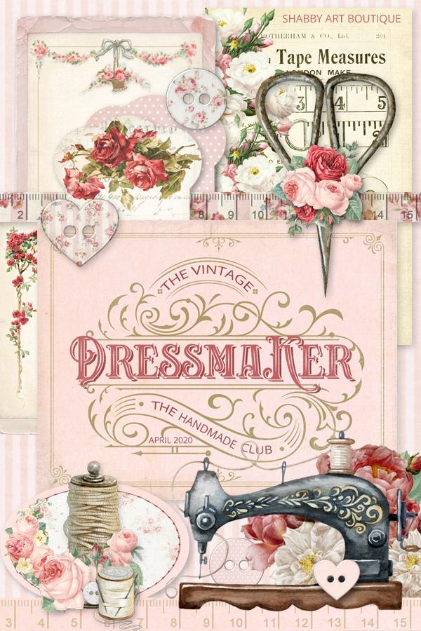 The April kit for the Handmade Club - The Vintage Dressmaker - Shabby Art Boutique