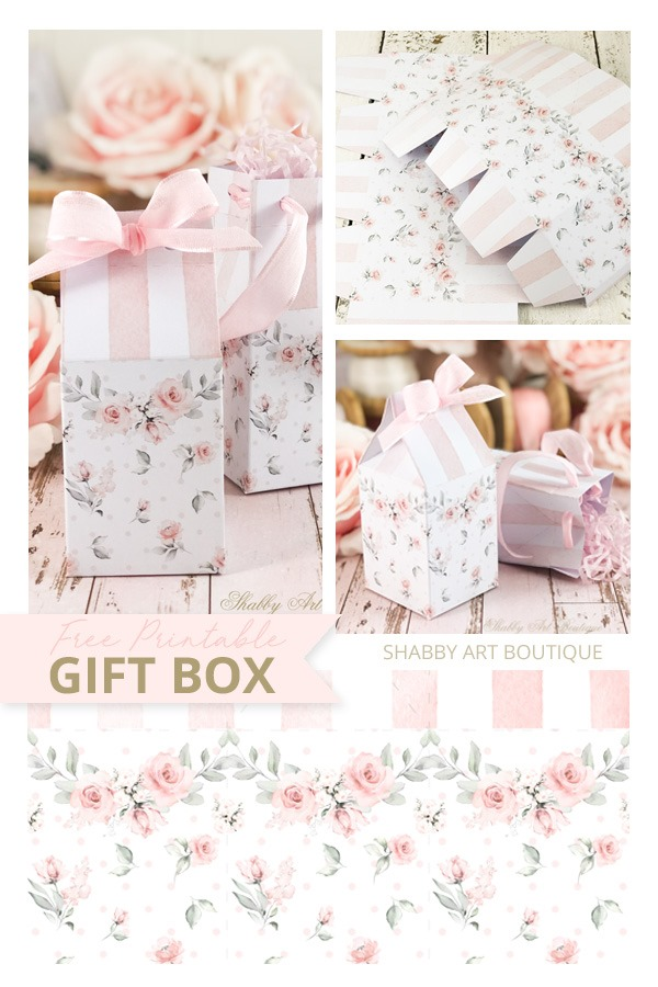 This pretty shabby gift box printable is free to download from Shabby Art Boutique just in time for Mothers Day